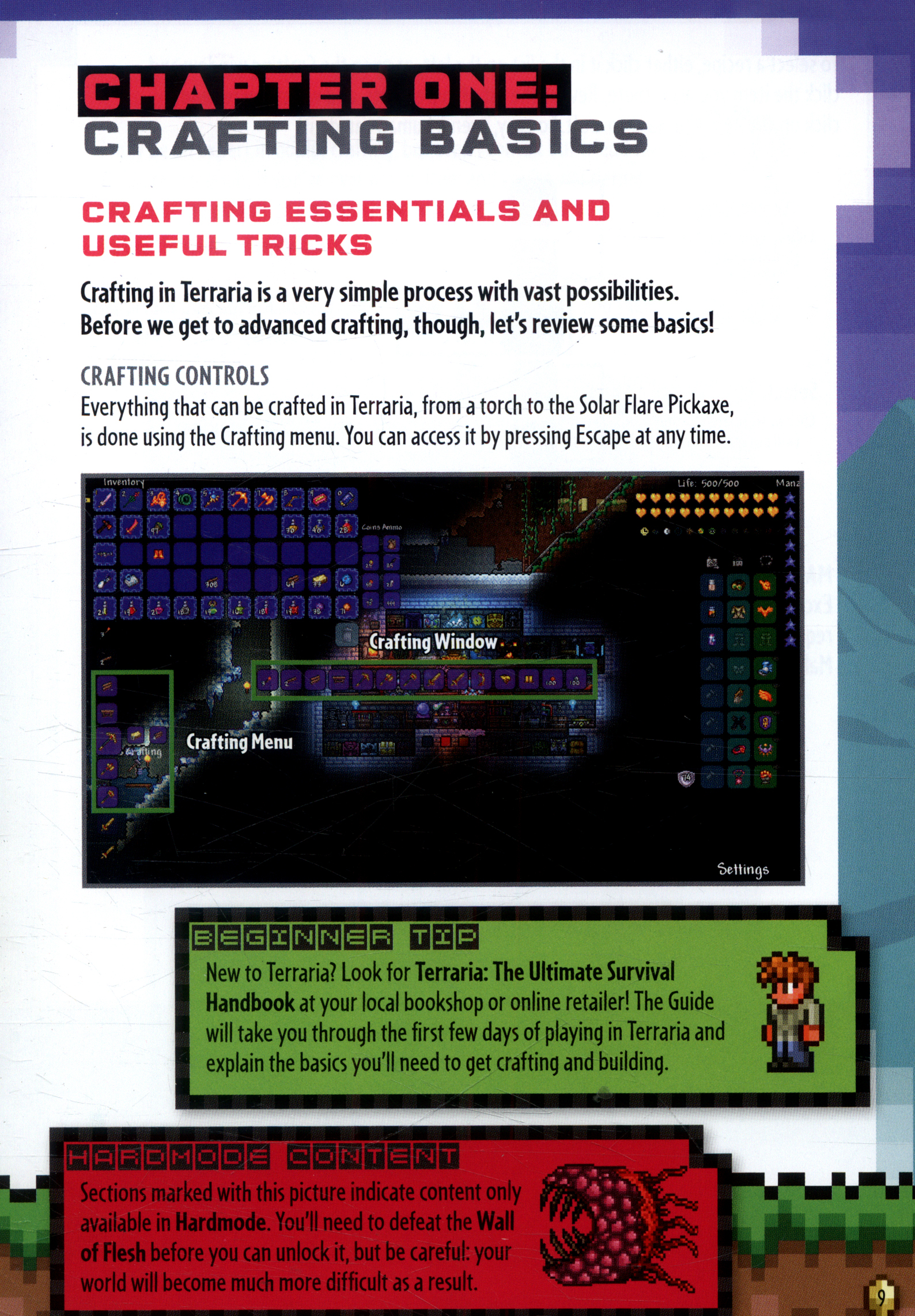 Terraria: Crafting and construction handbook by Roy, Daniel