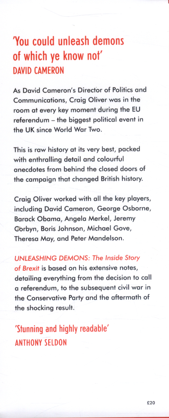 unleashing demons the inside story of brexit english edition