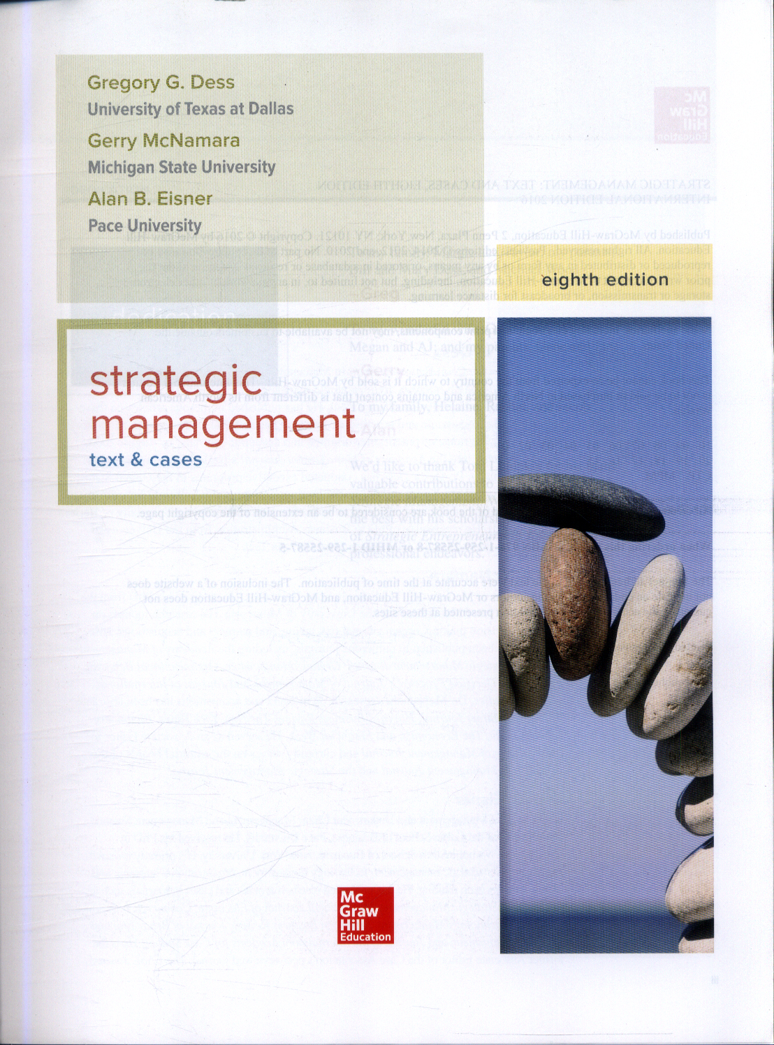 strategic management text and cases
