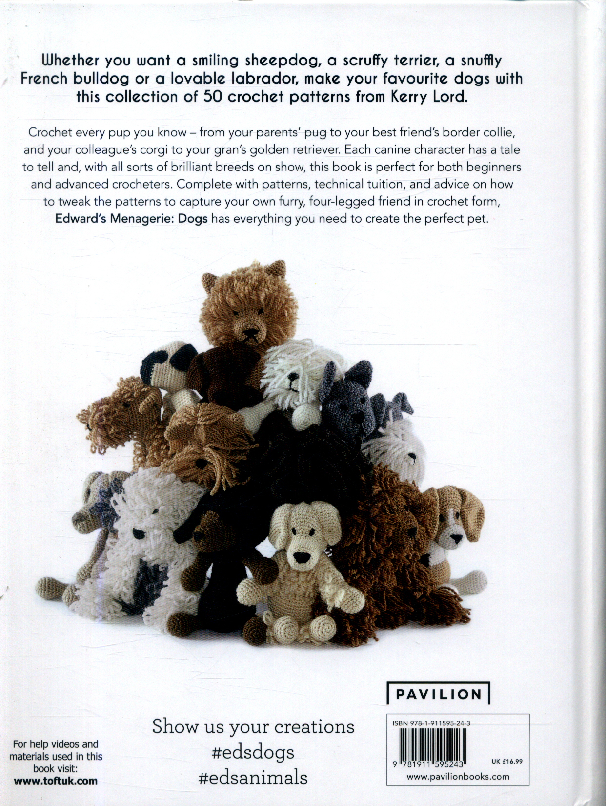 Edwards Menagerie Dogs 50 Canine Crochet Patterns By Lord Kerry