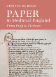 Image for Paper in medieval England  : from pulp to fictions