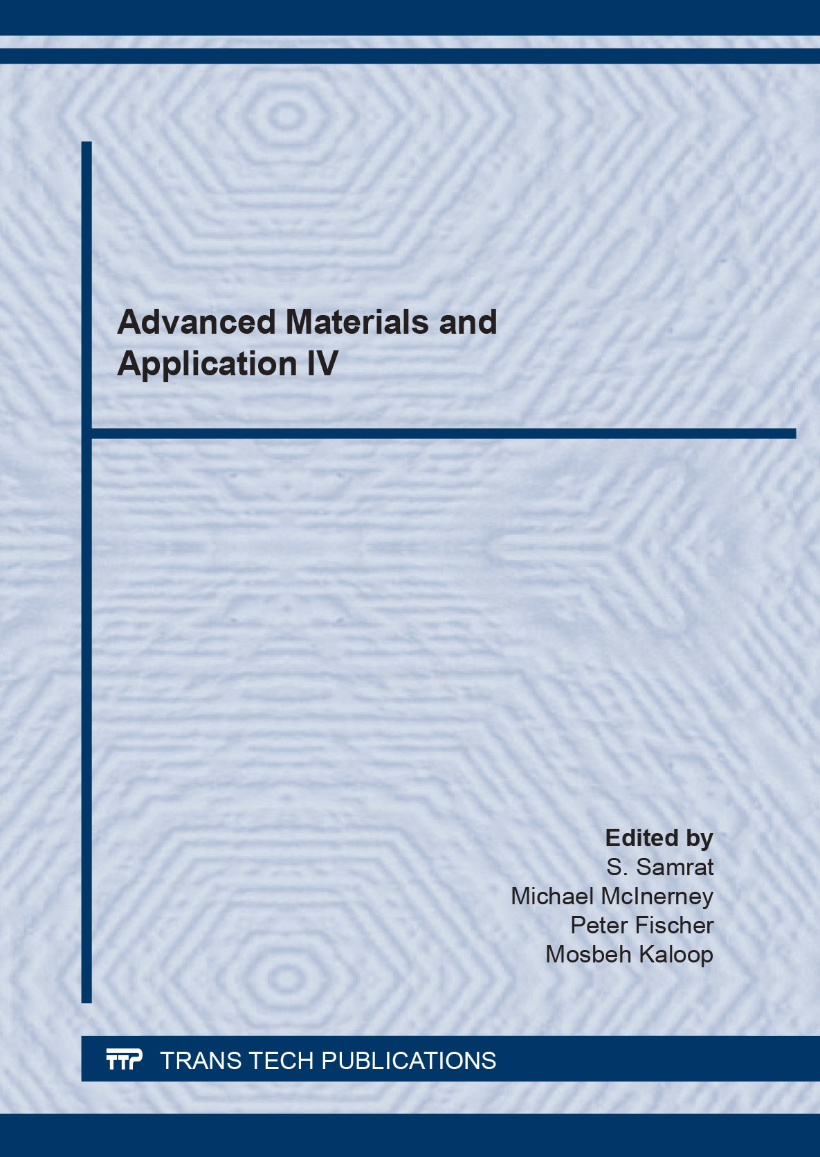 Image for Advanced materials and application IV