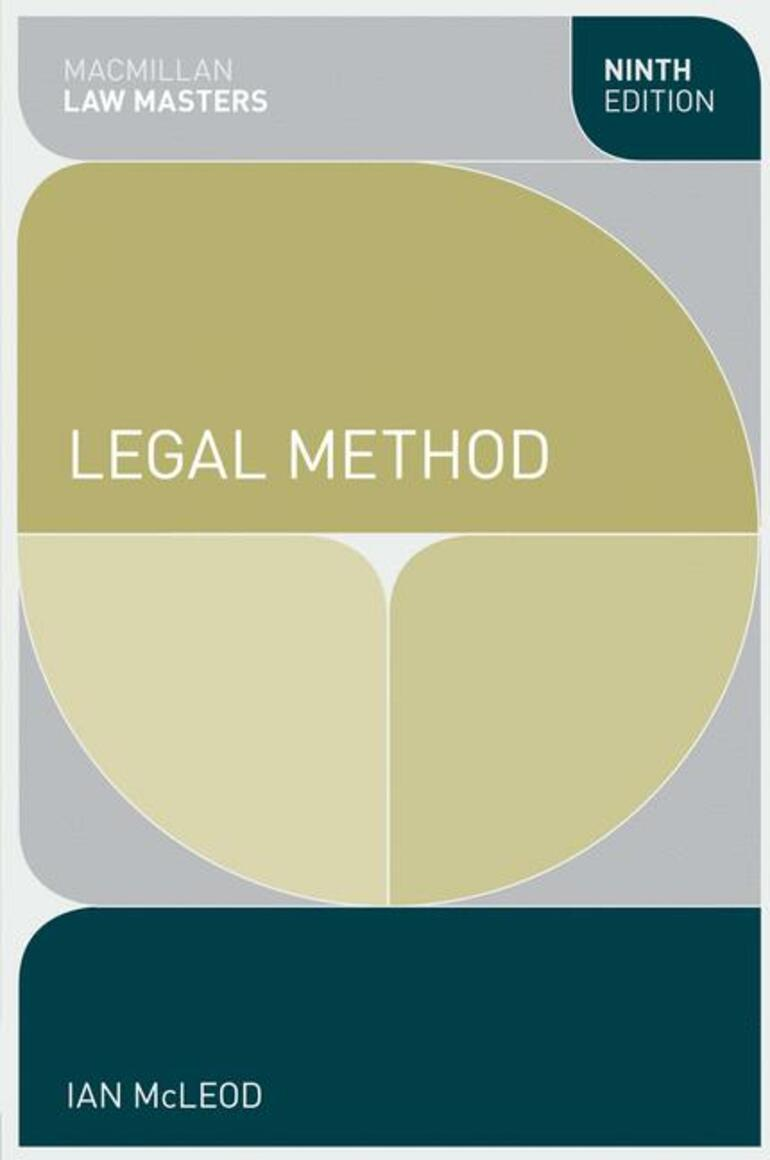 Legal Method - Ian McLeod - Macmillan International Higher Education