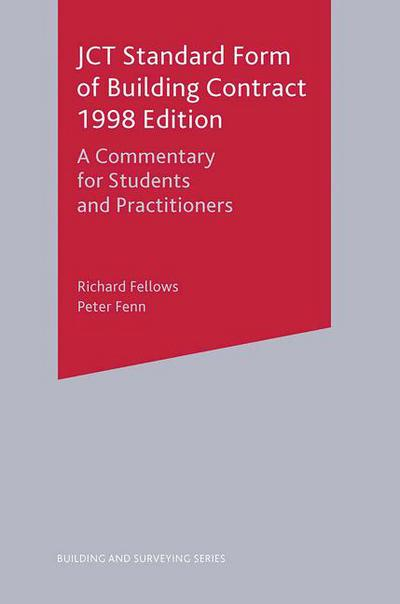 Jct Standard Form Of Building Contract 1998 Edition Richard