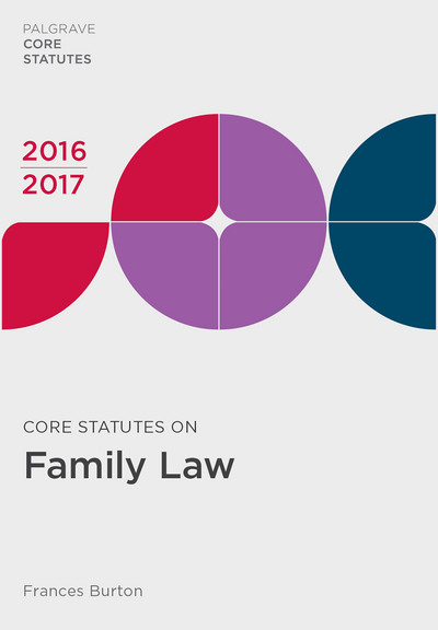Core Statutes on Family Law 2016-17