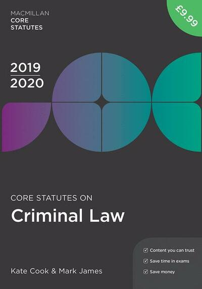 Core Statutes on Criminal Law 2019-20