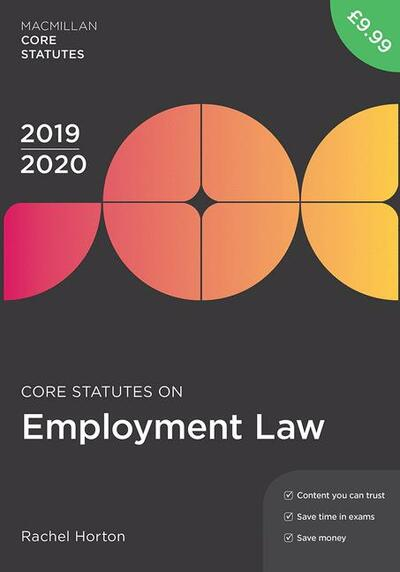 Core Statutes on Employment Law 2019-20