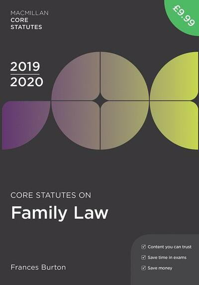 Core Statutes on Family Law 2019-20