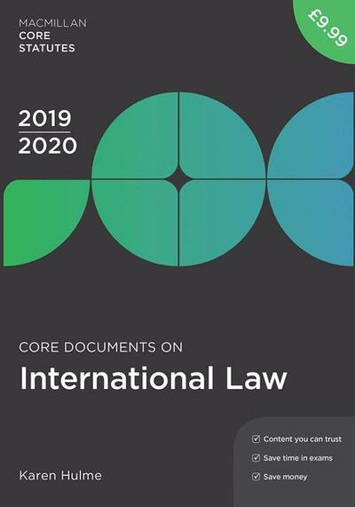 Core Documents on International Law 2019-20