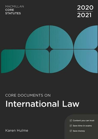 Core Documents on International Law 2020-21