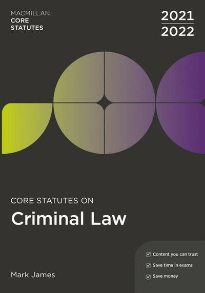 Core Statutes on Criminal Law 2021-22