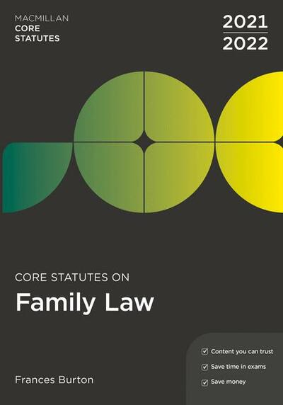 Core Statutes on Family Law 2021-22