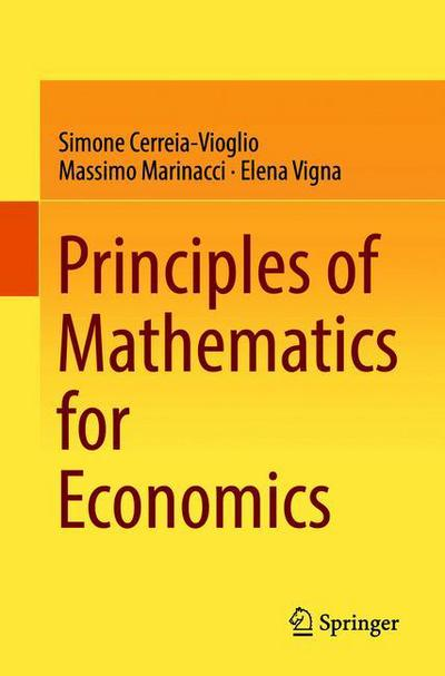 Principles of Mathematics for Economics
